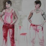 I röda jeans 150x123 cm
