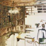 Biblioteket 150x120 cm