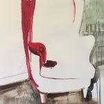 Röd fåtölj 50x70 cm